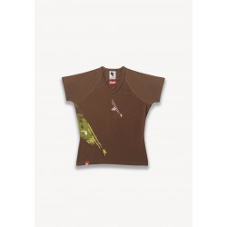 T-SHIRT TAG MARRON