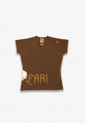 T-SHIRT ITAL MARRON
